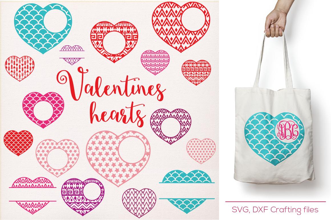 Valentines Hearts Designs Monogram Frames Svg Cutting File Svg Hearts Svg Cricut Design Space Silhouette Studio Valentine Hearts Svg By Cutesy Pixel Thehungryjpeg Com