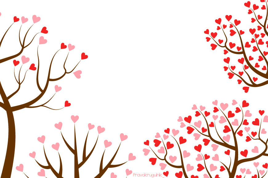 Love trees clipart set, Valentine tree clip art collection ...