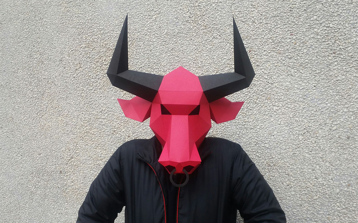 photo regarding Printable Papercrafts named Do it yourself BULL Mask (Printable) - 3d papercrafts By means of PAPER amaze