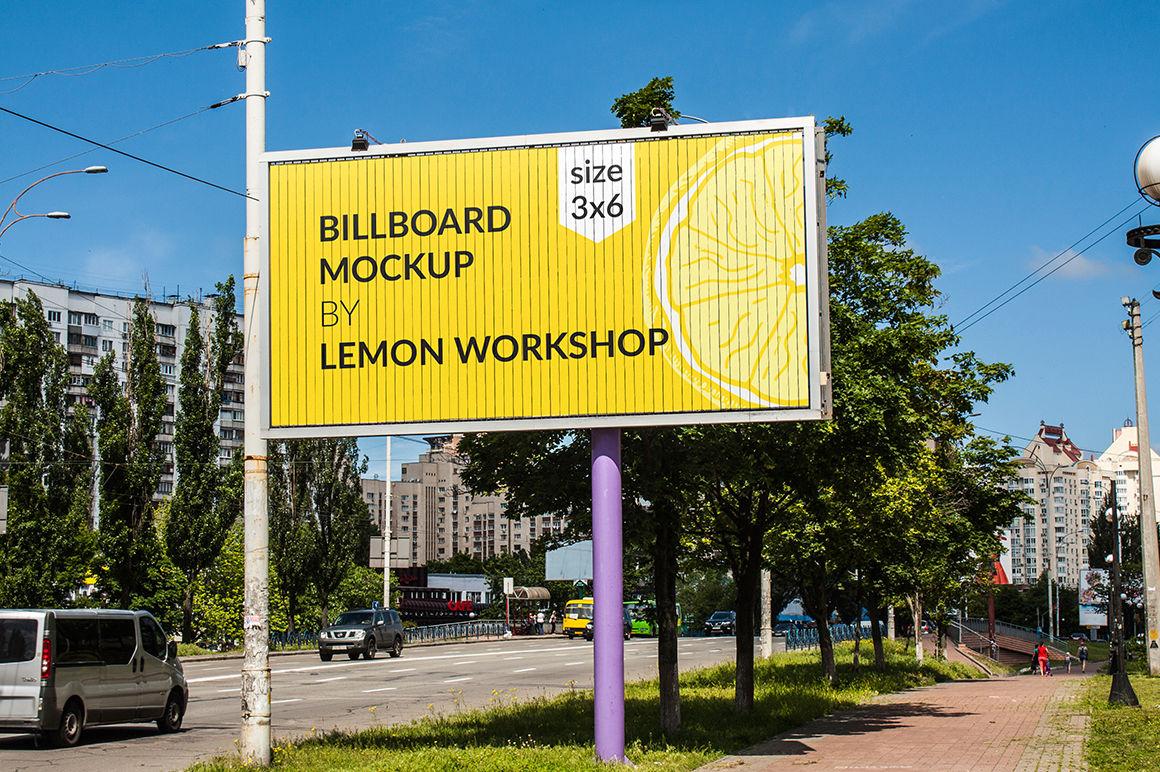 Download 14x48 Billboard Mockup Psd Yellowimages