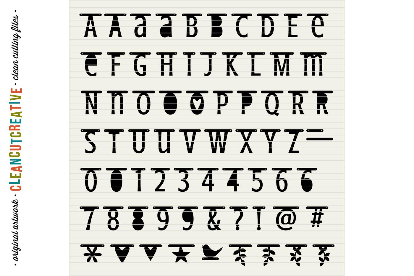 Cute Banner Alphabet Bunting Garland Alphabet Letter Banner