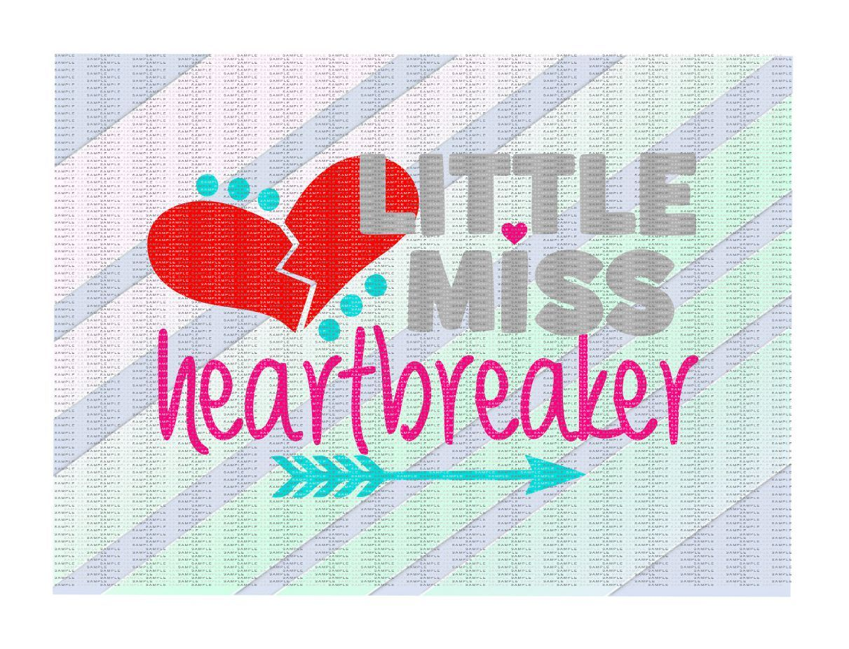 Little Miss Heartbreaker Cutting Printing Files By Cut It Up Y All Thehungryjpeg Com