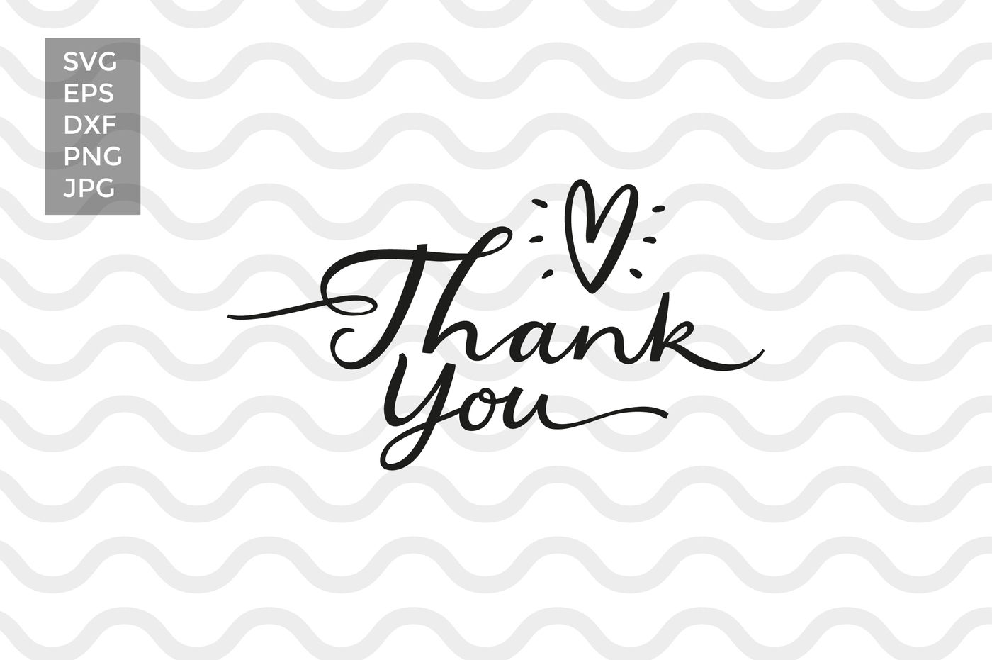Thank you, vector cut files By Zira Zulu | TheHungryJPEG com