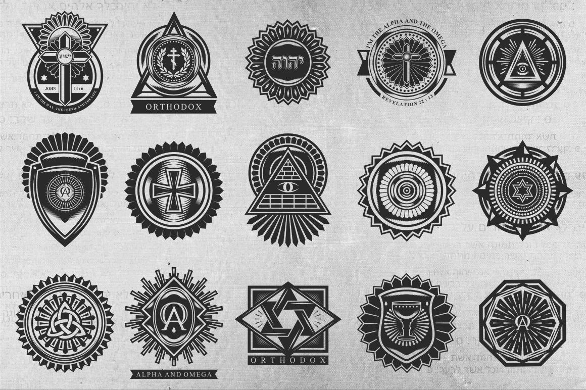 Church Ornament Badges By TSV Creative | TheHungryJPEG com