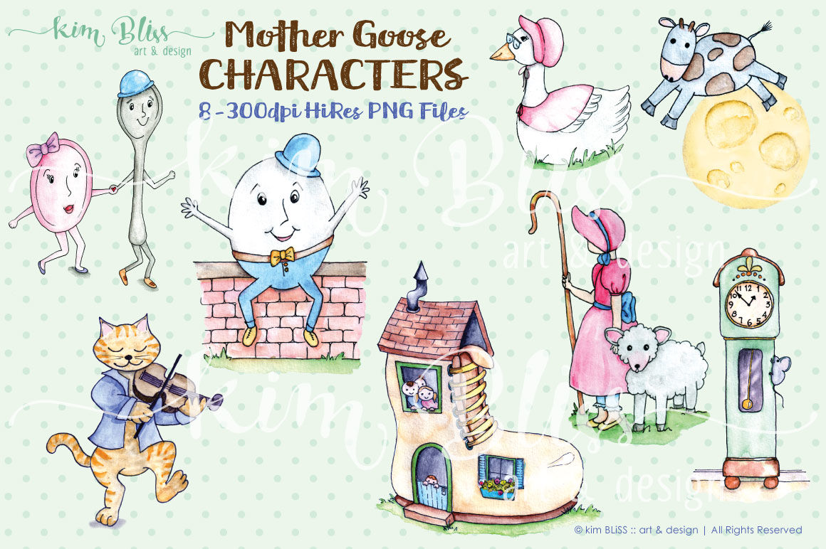 Clip Art: Mother Goose Characters By kim BLiSS art & design