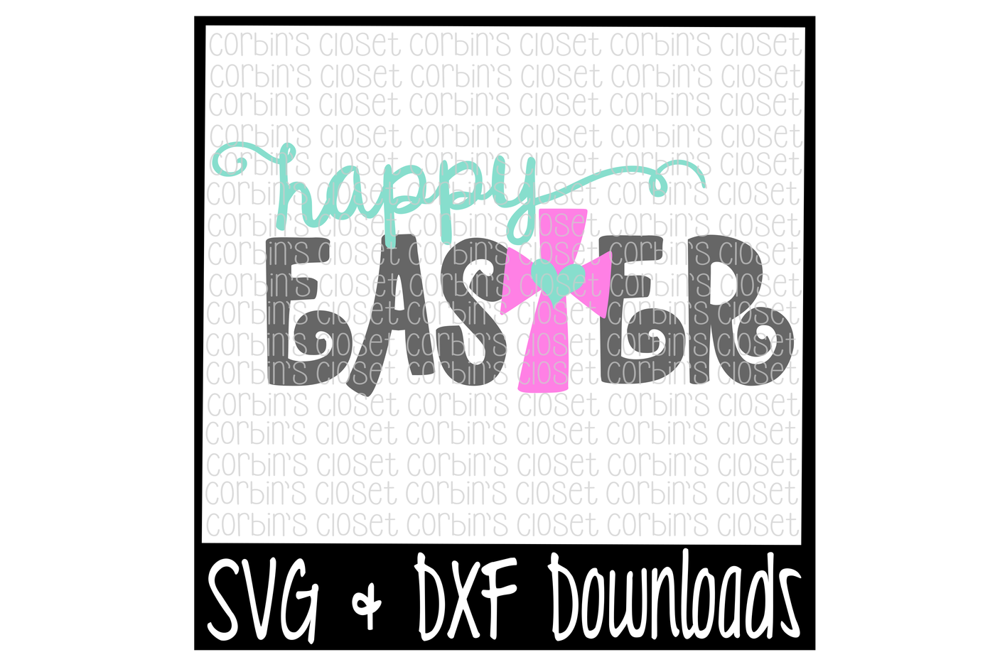 Easter Svg Happy Easter Easter Cross Cut File By Corbins Svg