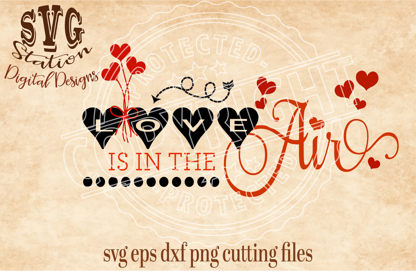 Download Love is in the Air Valentine / SVG PNG EPS DXF Cutting ...