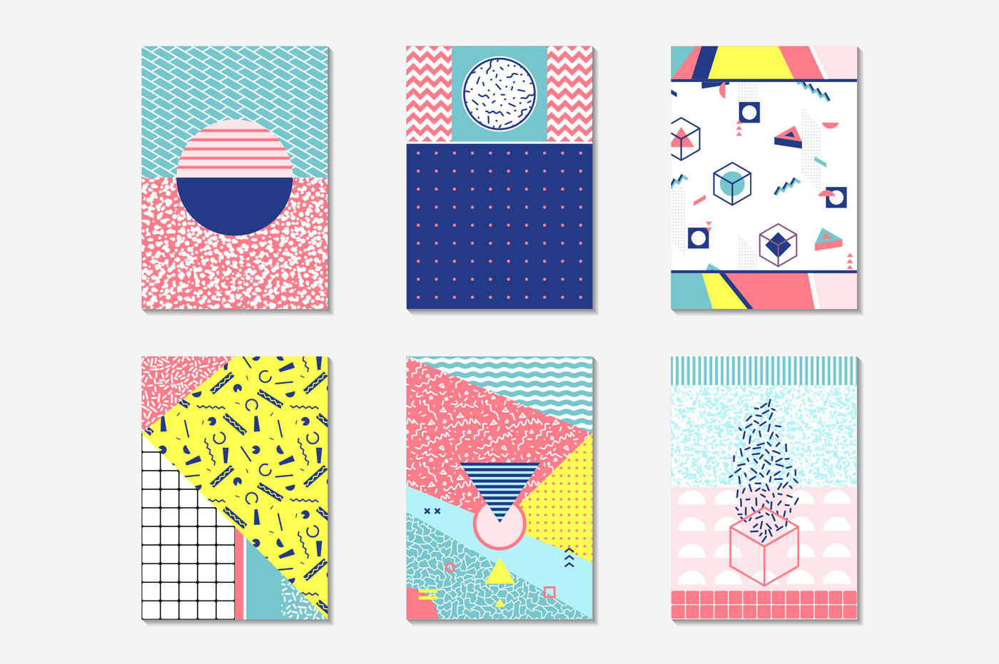 Geometric 80's style patterns By Antikwar | TheHungryJPEG com