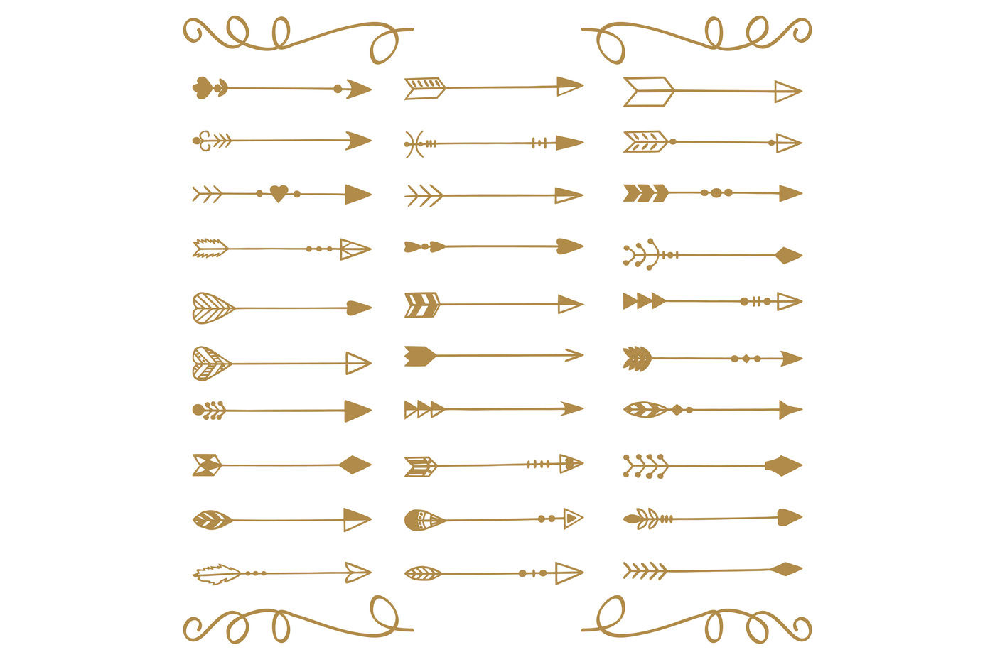 Hand Drawn Arrows Vector Png By Annakristal