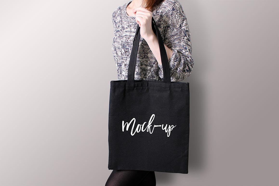 Glossy Shopping Bag Mockup Front View