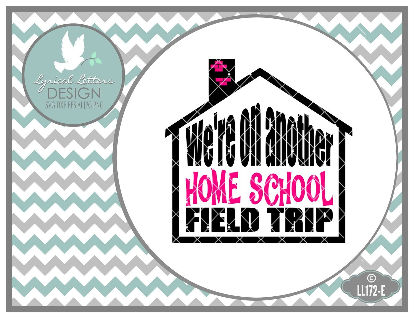 Were on another home school field trip car decal design ll172e cut file in svg dxf eps ai jpg png