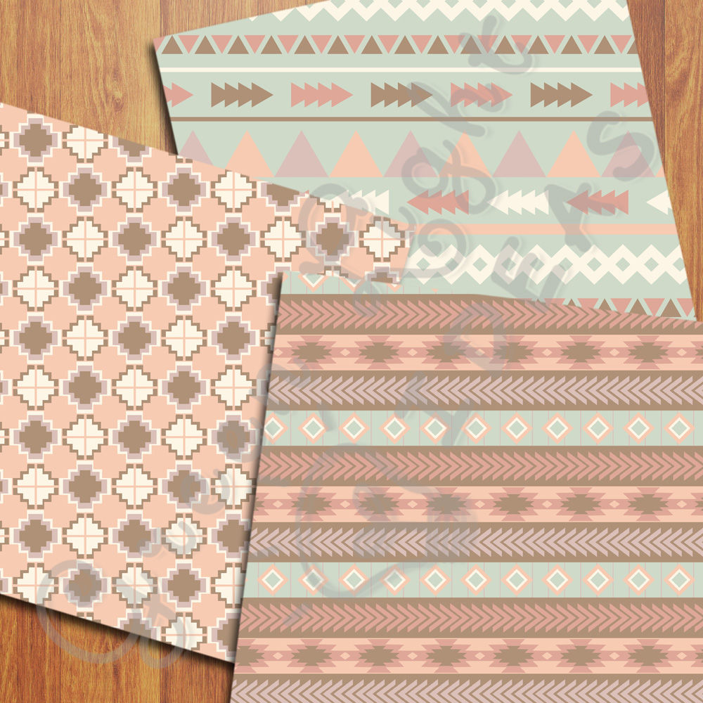 Earth Tribal Digital Papers By Green Light Ideas Thehungryjpeg Com