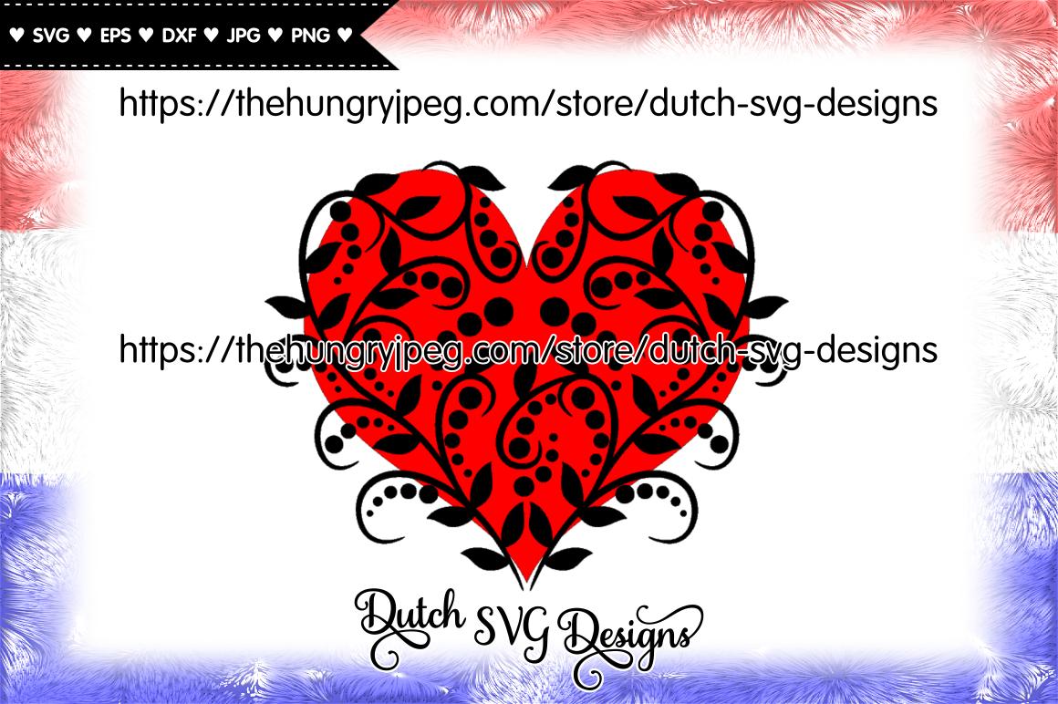 Decorative Heart Cut File Heart Svg Valentine Svg Love Svg