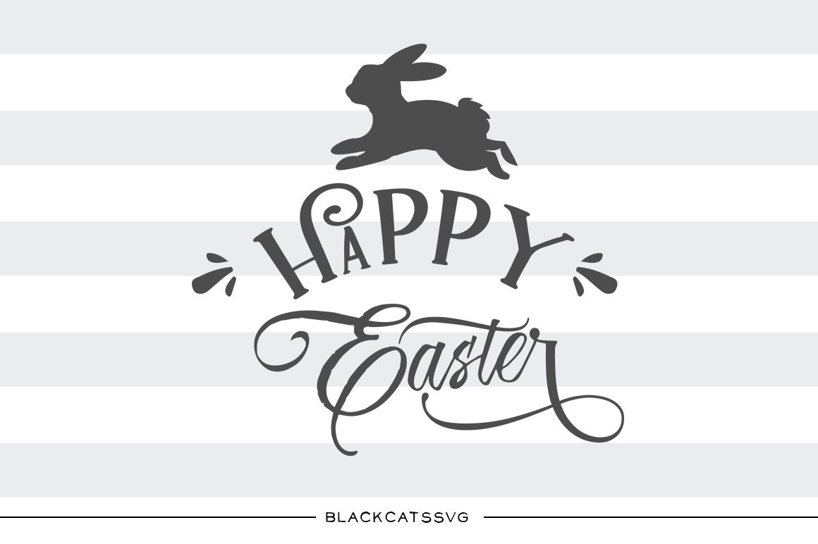 cbf02d32058c7 Happy Easter SVG Hoppy Easter bunny svg file Cutting File Clipart in ...