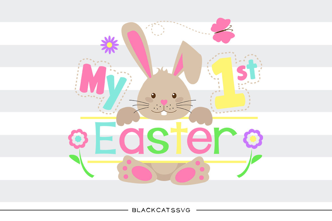 Easter bunny boy. My first colored svg