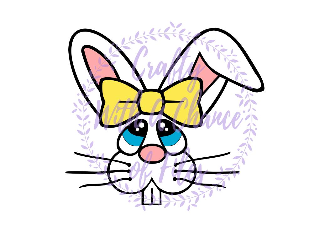 Easter Svg Bunny Girl Face Svg Easter Basket Svg Easter