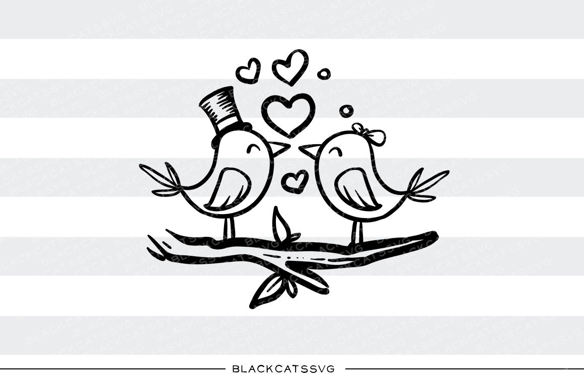 Love Birds Svg By Blackcatssvg Thehungryjpeg Com