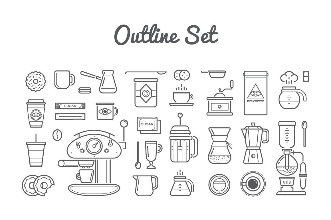 awesome coffee icons and logo set by ckybe u0026 39 s store