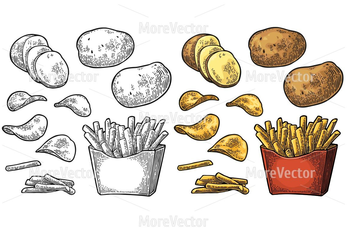 Download Paper French Fries Box Small Size Yellowimages