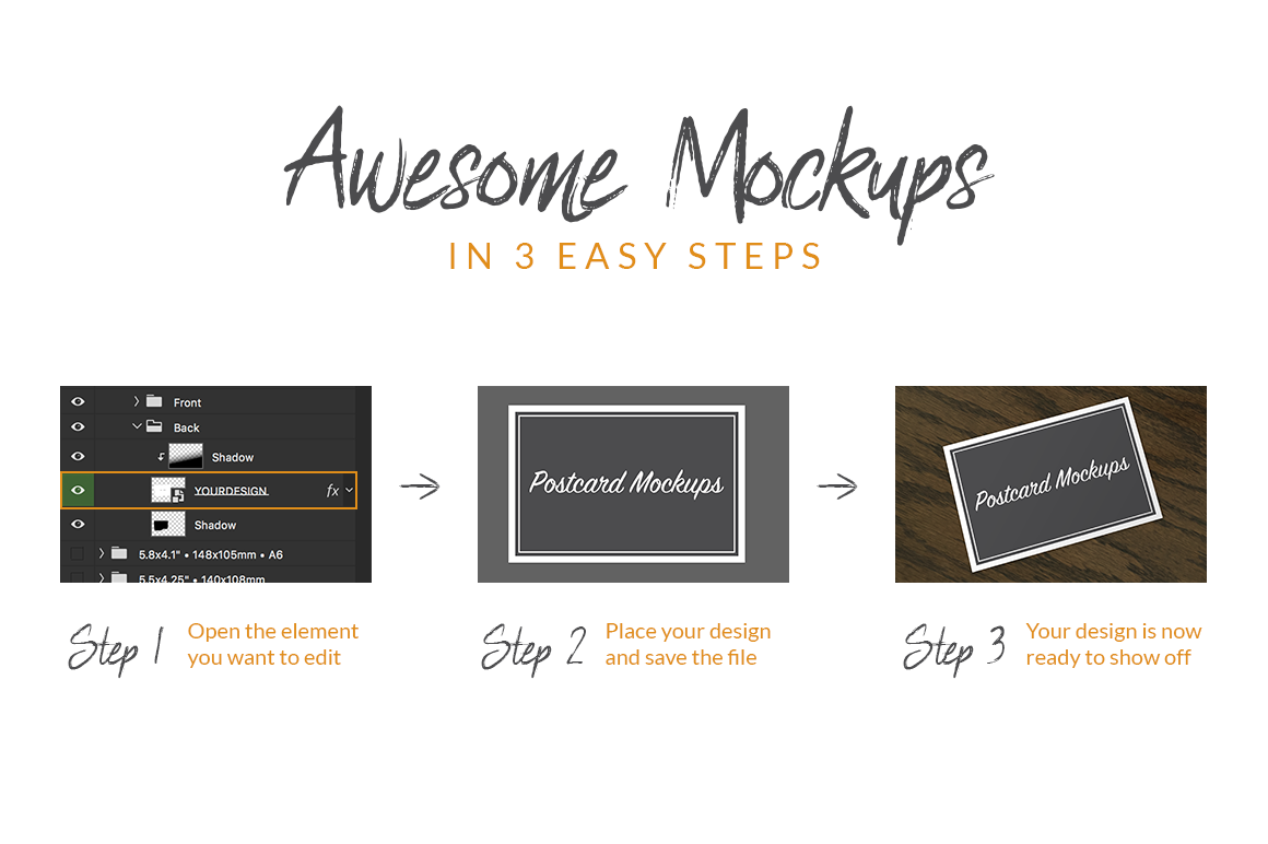 Download A6 Psd Mockup Yellow Images