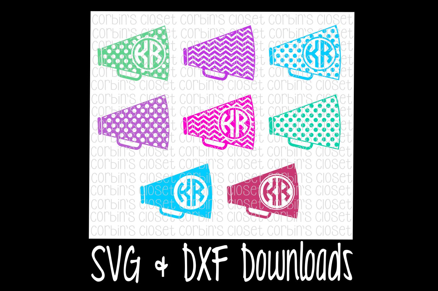 Cheer Svg Cheer Monogram Svg Megaphone Cut File By Corbins Svg Thehungryjpeg Com