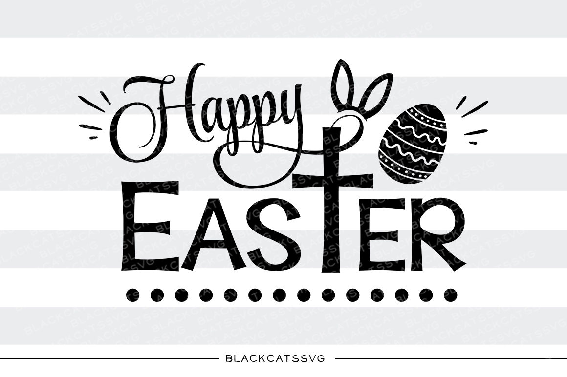Happy Easter Cross And Egg Svg File By Blackcatssvg