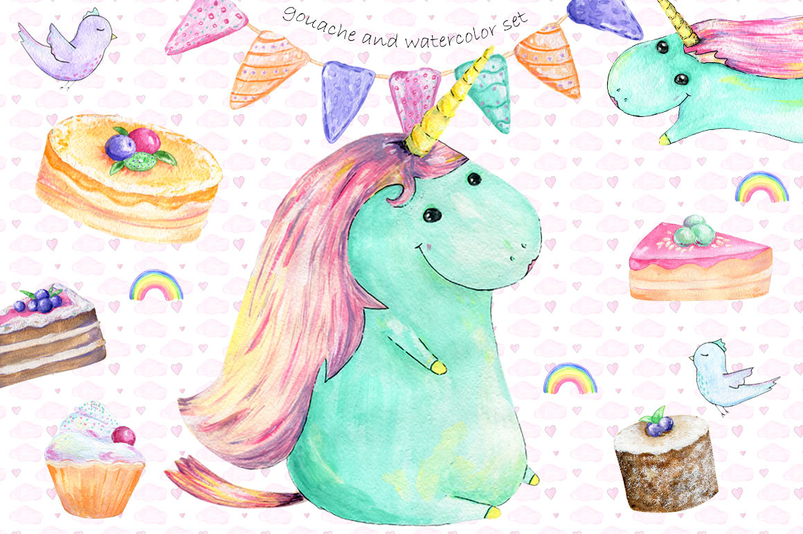 Unicorn Cake Clipart