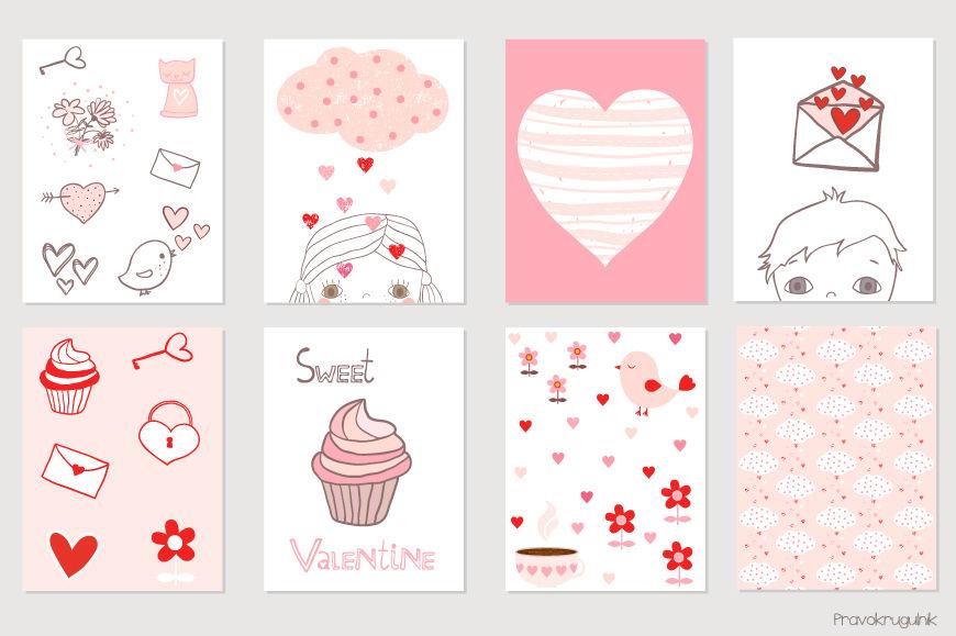 Cute Valentine Card Printable Kawaii Valentine S Day Cards Love
