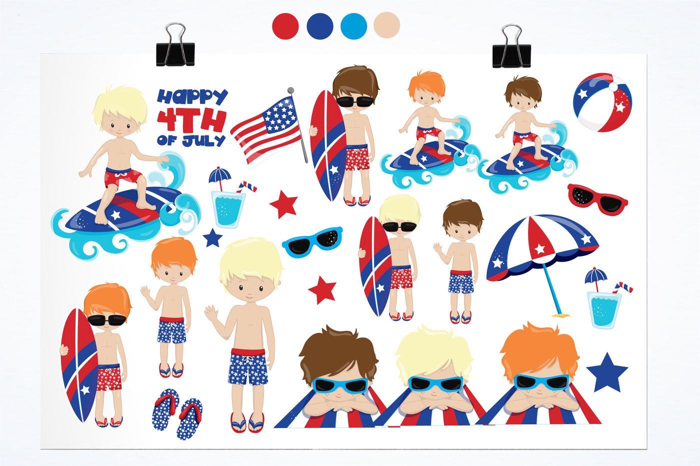 Happy 4th Of July Graphics And Illustrations By Prettygrafik