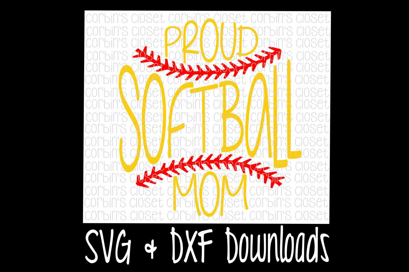 Softball Svg Softball Mom Svg Proud Softball Mom Cut File By Corbins Svg Thehungryjpeg Com