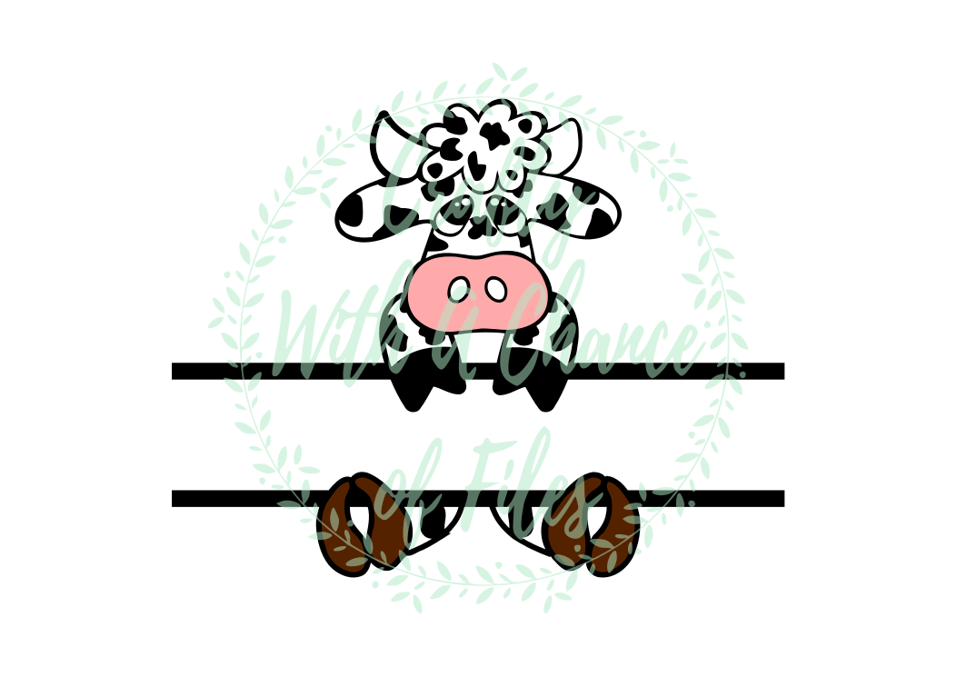 Easter Svg Easter Split Design Svg Easter Cow Svg Split Cow