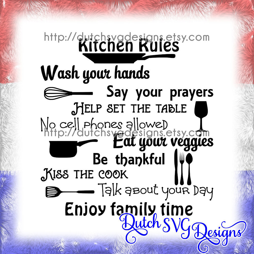 Download Text cutting file Kitchen Rules, in Jpg Png SVG EPS DXF ...