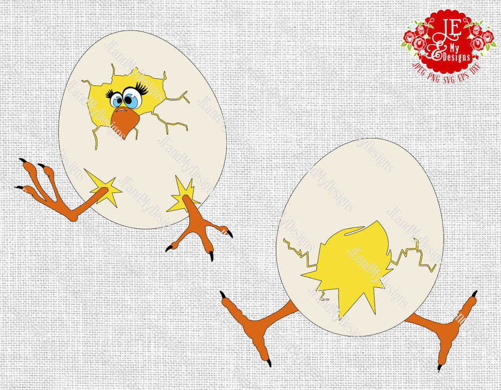 Chick Hatching Jpeg Png Svg Eps Dxf By Jeandmydesigns