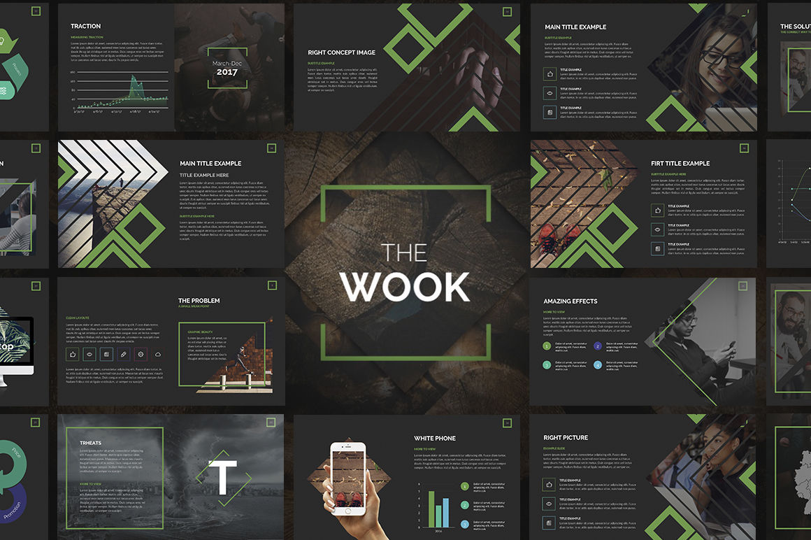 Wook Powerpoint Template By Zacomic Studios Thehungryjpeg Com