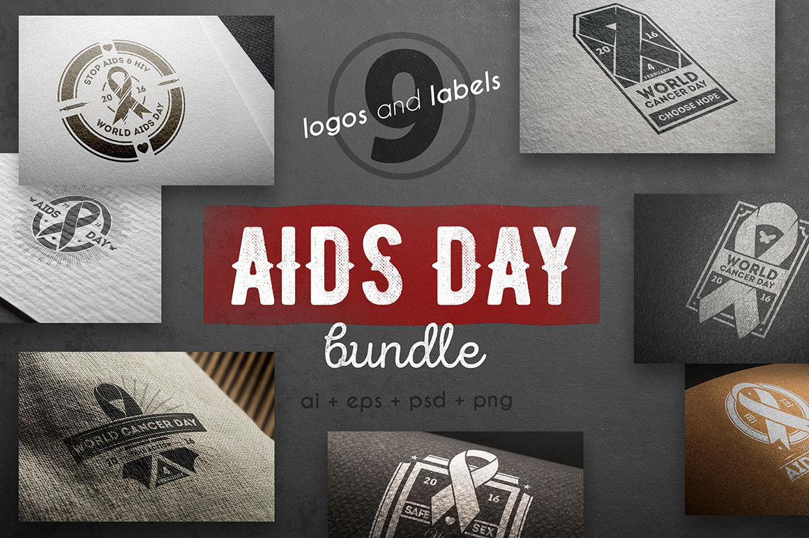 Aids day vintage logo kit By Alfazet Chronicles