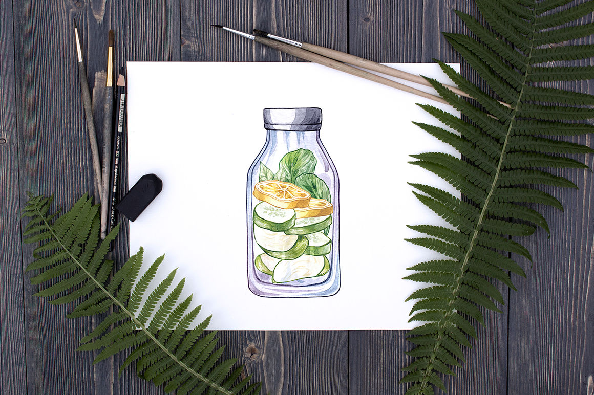 Download 330ml Clear Glass Lemon Drink Bottle Mockup Yellowimages