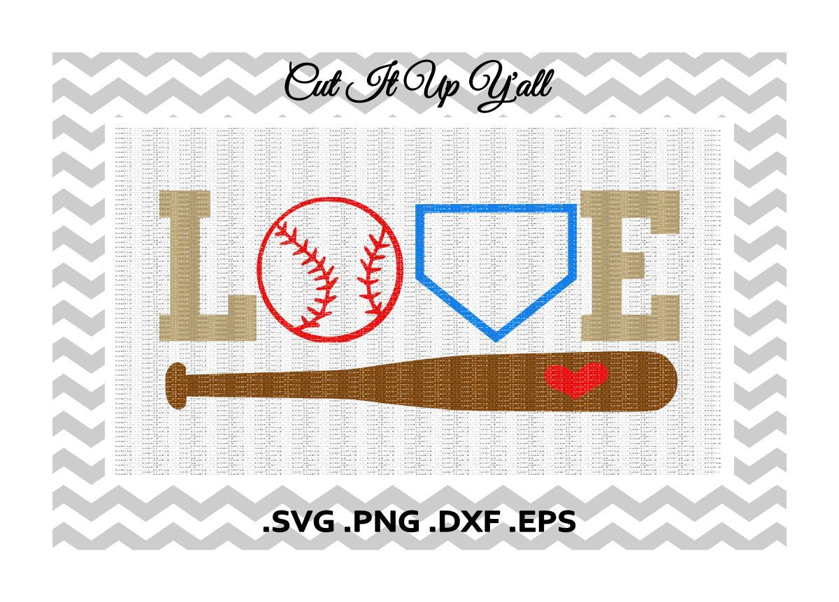 Love Baseball Svg Png Eps Dxf Cutting Printing Files For Cameo Cricut More By Cut It Up Y All Thehungryjpeg Com