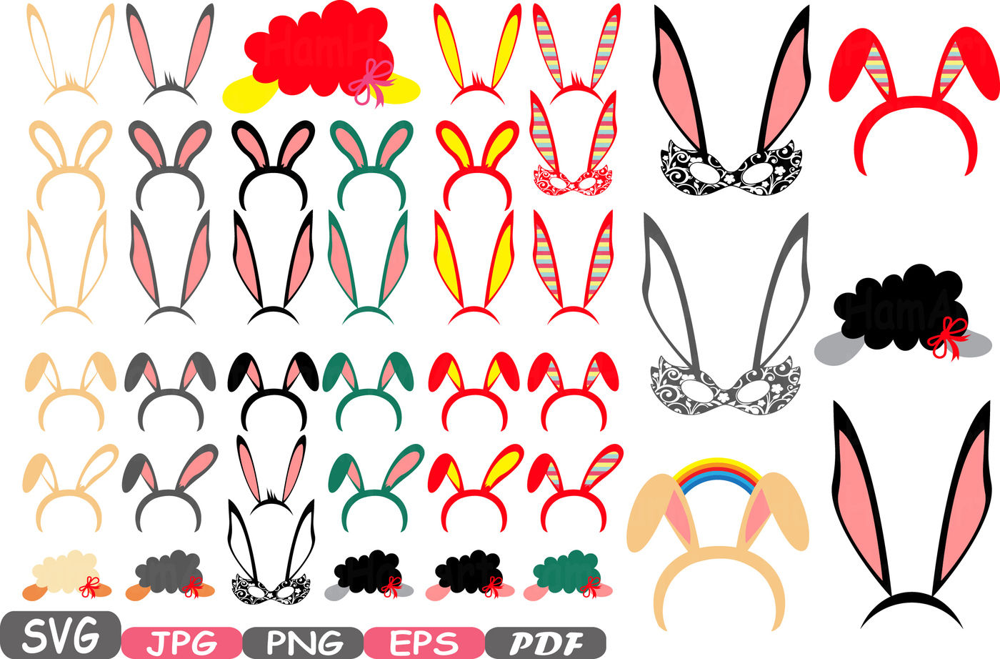 Easter Props Props Photo Booth Cutting Files Svg Party Happy
