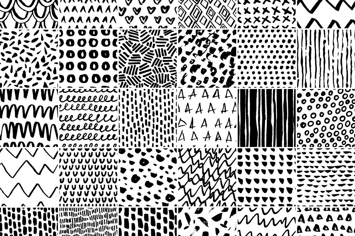 30 Simple Seamless Patterns By Favete Art