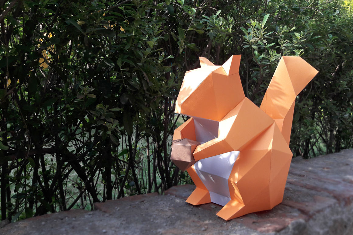 image about Printable 3d Paper Crafts identified as Do-it-yourself Squirrel (Printable) - 3d papercrafts Via PAPER amaze