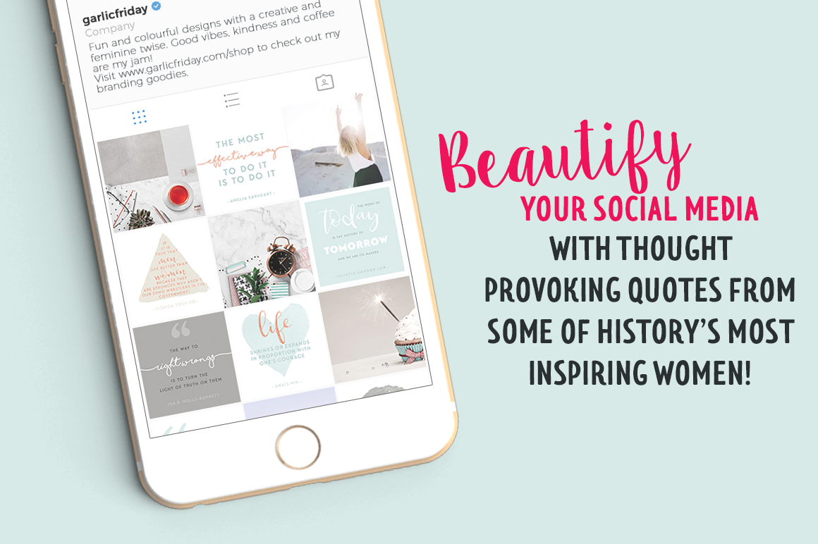 Wonderful Women Social Media Quote Pack By Garlic Friday Design