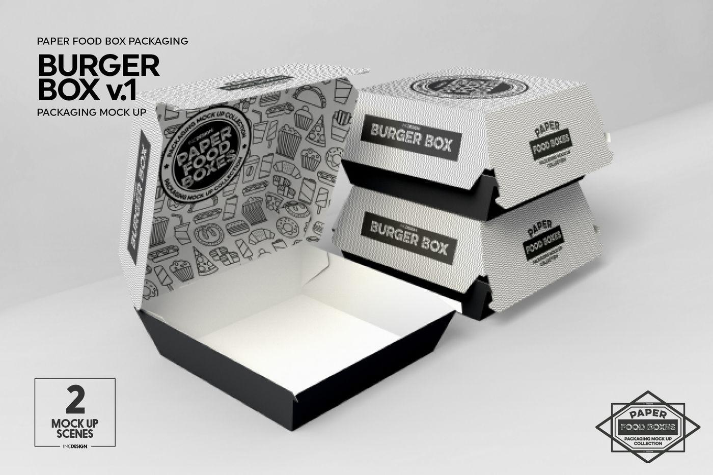 Burger Box V1 Packaging Mockup By Inc Design Studio