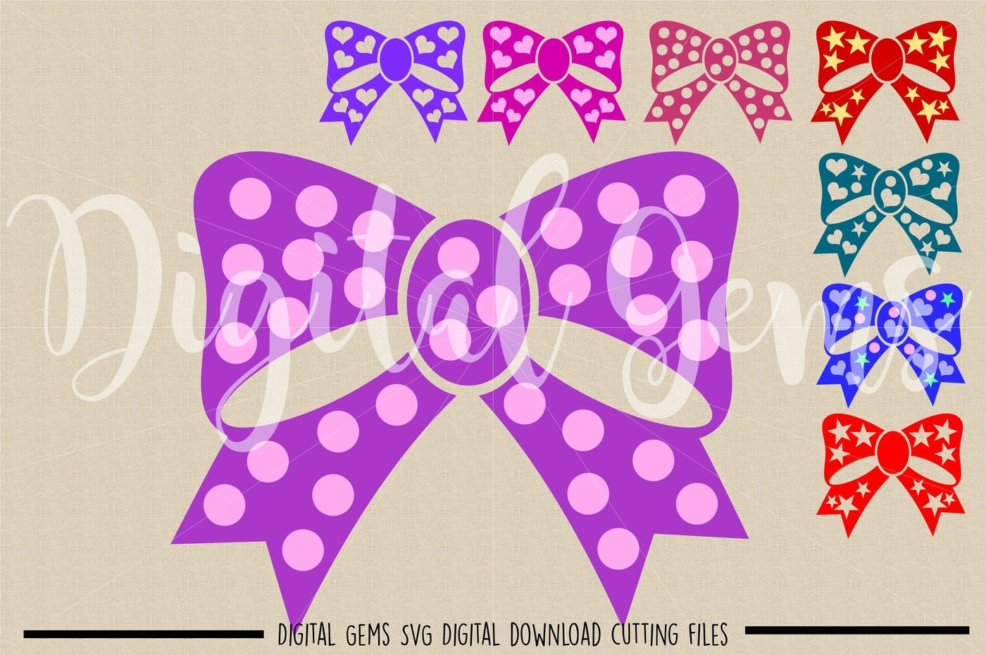 Bow Svg Dxf Eps Png Files By Digital Gems Thehungryjpeg Com