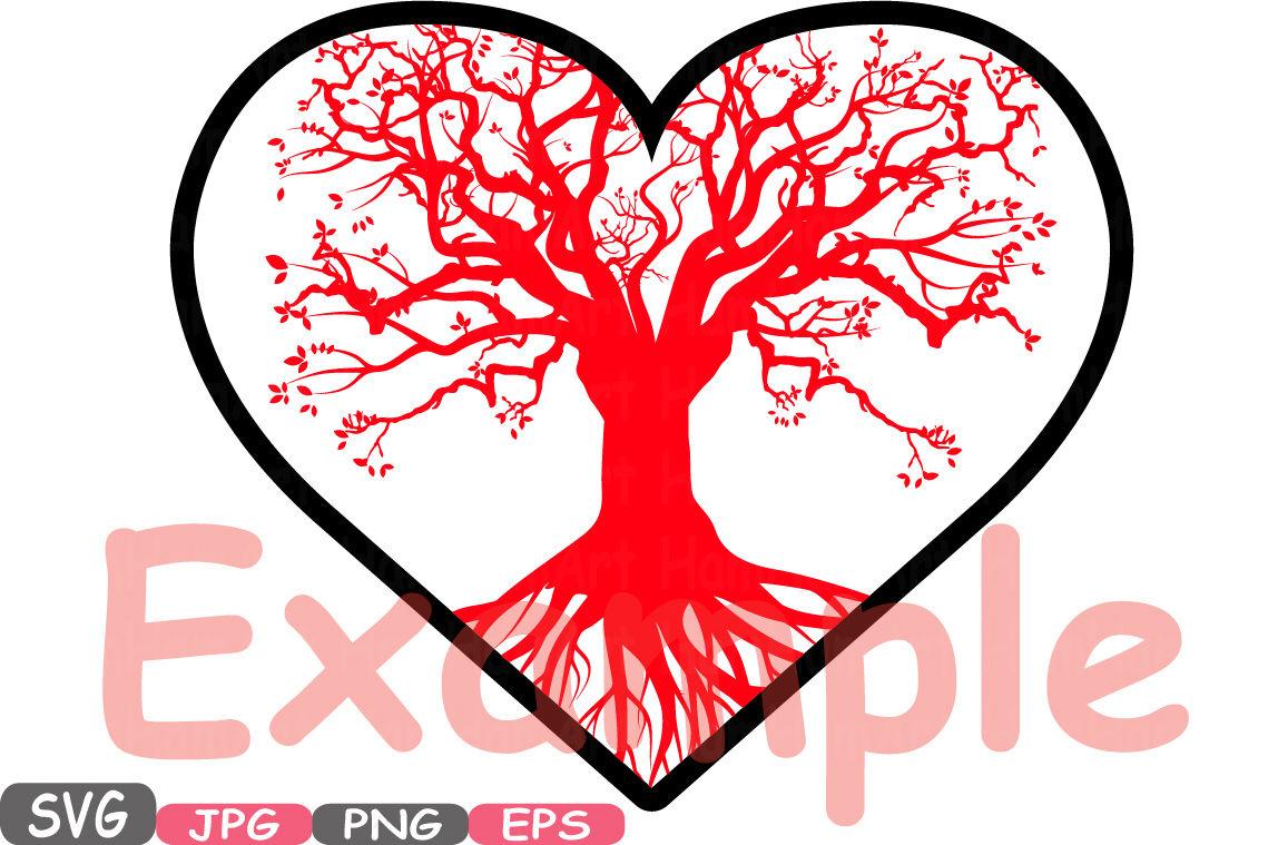 Family Tree Heart Frame Svg Family Valentine S Day Svg Clip Art