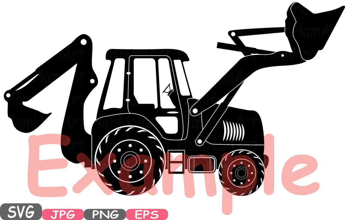 Construction Machines Silhouette Svg File By Hamhamart Thehungryjpeg Com