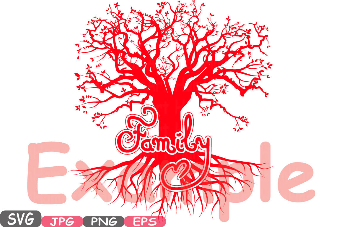 Family Svg Word Art Family Quote Clip Art Silhouette Branches