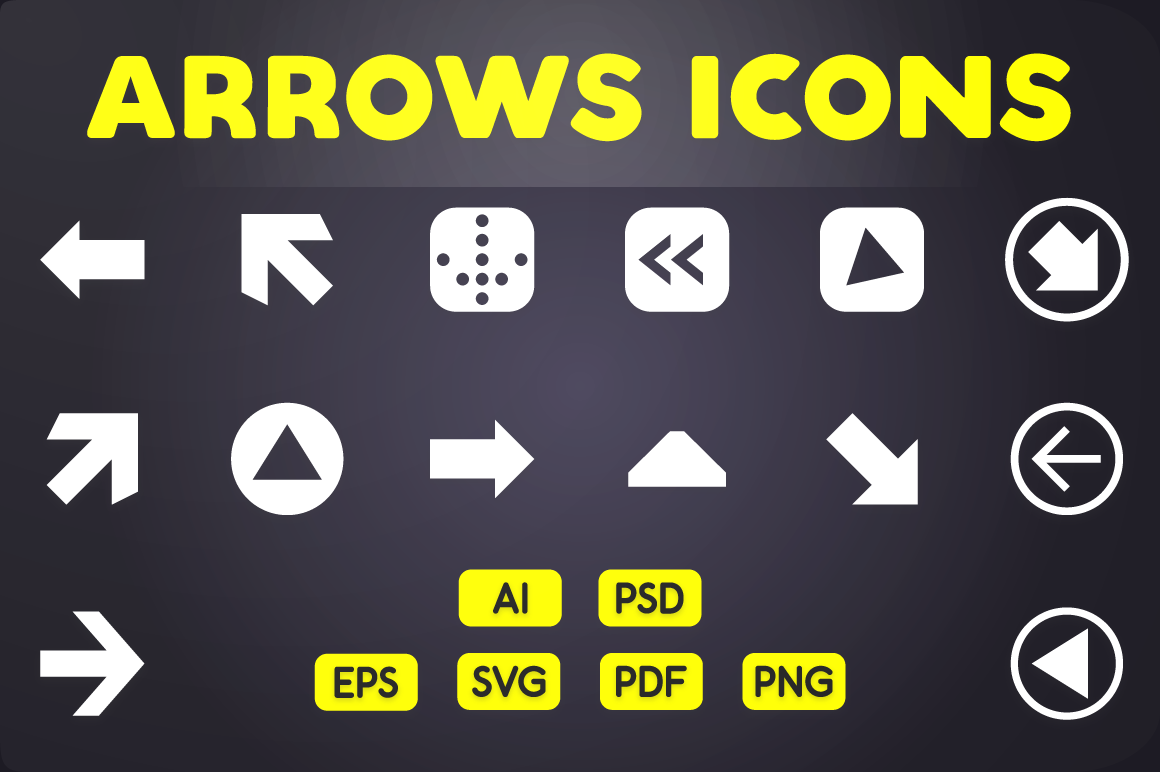 Glyph Icon Arrows Icons By Chamicon Thehungryjpeg Com