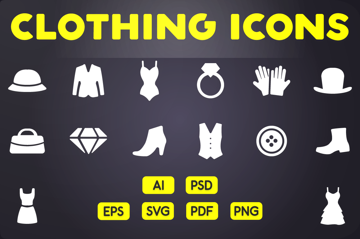 Glyph Icon Clothing Icons Vol 1 By Chamicon Thehungryjpeg Com