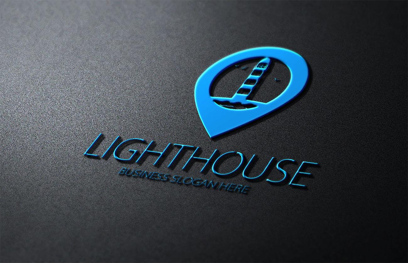 LIGHTHOUSE LOGO By fastudiomedia   TheHungryJPEG.com