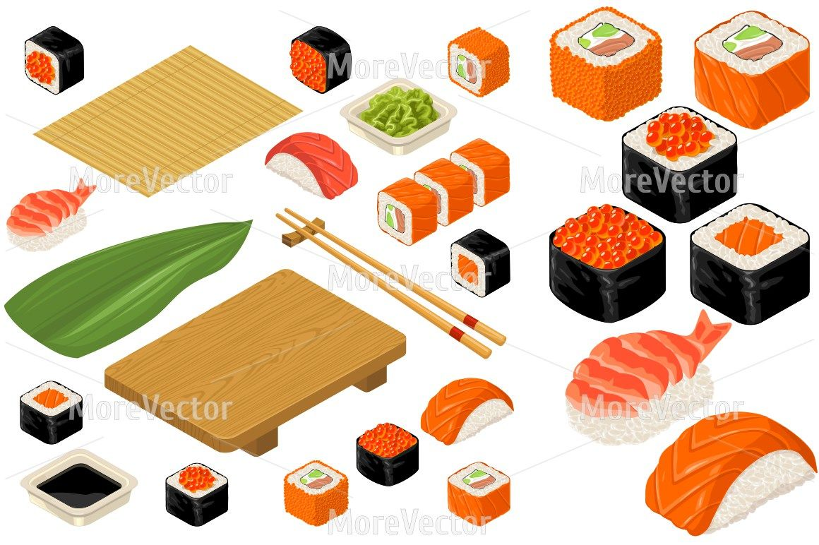 Set Sushi Bamboo Mat Chopsticks Wasabi Soy Sauce Nigiri